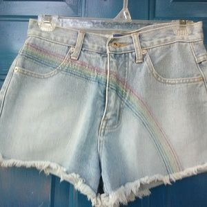 Jean shorts from Express now you can describe it